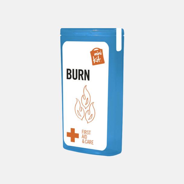 Blå Mini brännsårskit med reklamtryck