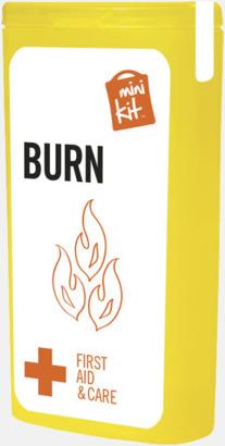 Gul Mini brännsårskit med reklamtryck