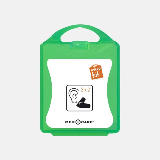 Grön Öronproppar i mikroförpackning med reklamtryck