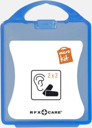 Blå Öronproppar i mikroförpackning med reklamtryck