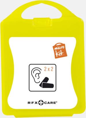 Gul Öronproppar i mikroförpackning med reklamtryck