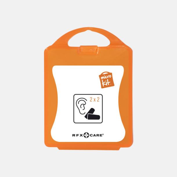 Orange Öronproppar i mikroförpackning med reklamtryck