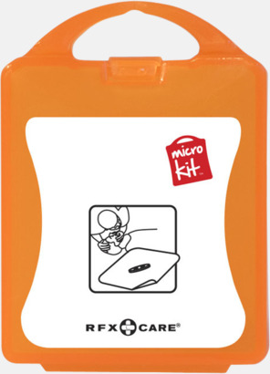 Orange Munskydd med reklamtryck