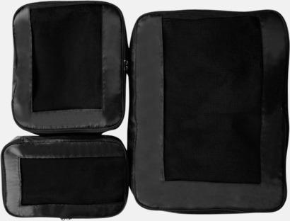 Svart Fodral för bättre organiserad packning i resväskan - med reklamtryck