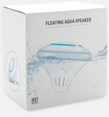 Presentförpackning Vattentäta Bluetooth-högtalare med flytförmåga - med reklamtryck