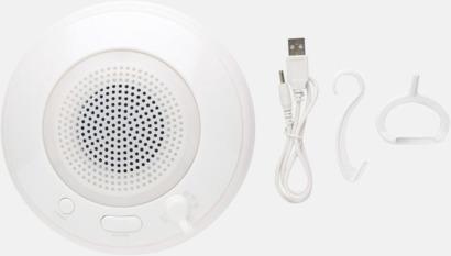 Vit Vattentäta Bluetooth-högtalare med flytförmåga - med reklamtryck