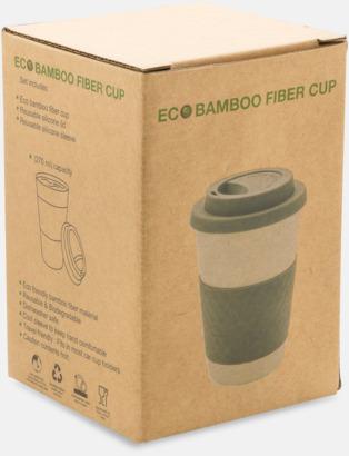 Presentförpackning Ekologiska bambumuggar med reklamtryck