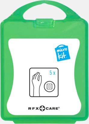 Grön Litet plåsterkit med reklamtryck