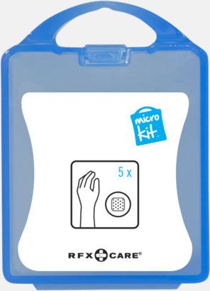 Blå Litet plåsterkit med reklamtryck