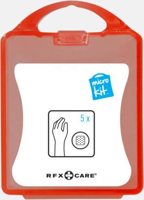 Röd Litet plåsterkit med reklamtryck