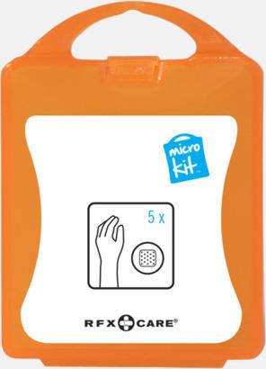 Orange Litet plåsterkit med reklamtryck