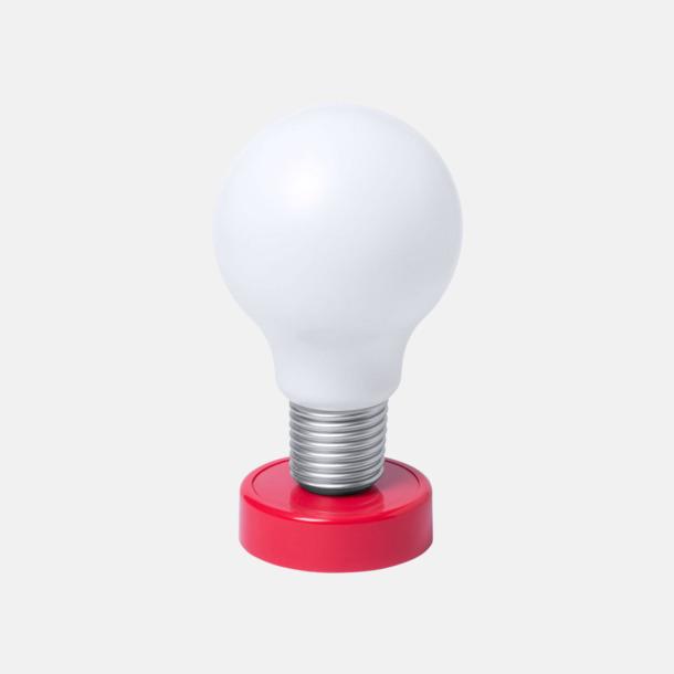 Röd Glödlampor som bordslampa med reklamtryck