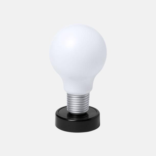 Svart Glödlampor som bordslampa med reklamtryck