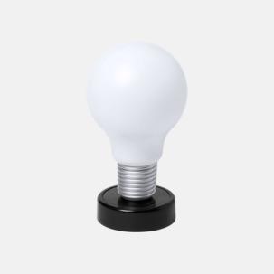 Glödlampor som bordslampa med reklamtryck