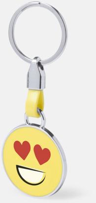 Hjärtögon Känslofulla nyckelringar med reklamtryck