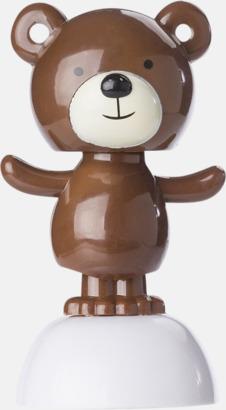 Brun björn Solkraftsdriven figur med reklamtryck