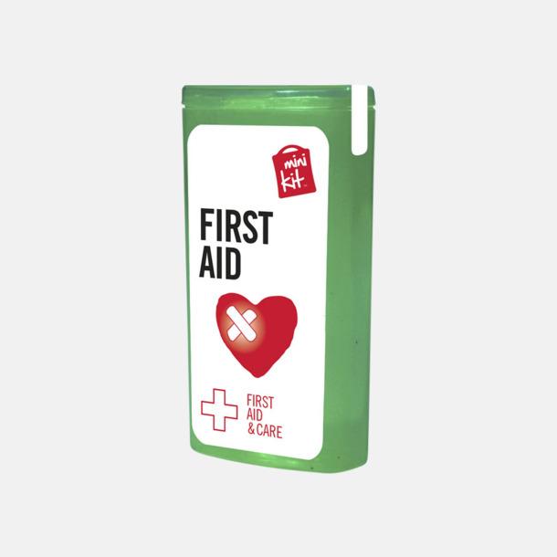Grön Mini första hjälpen-kit med reklamtryck
