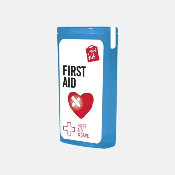 Blå Mini första hjälpen-kit med reklamtryck