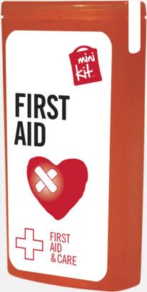 Röd Mini första hjälpen-kit med reklamtryck