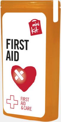 Orange Mini första hjälpen-kit med reklamtryck