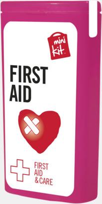 Magenta Mini första hjälpen-kit med reklamtryck