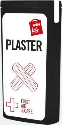 Svart Kit med 10 plåster i förpackning med reklamtryck