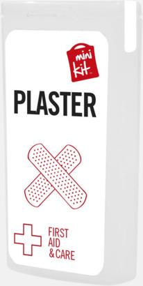 Vit Kit med 10 plåster i förpackning med reklamtryck