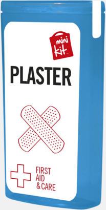 Blå Kit med 10 plåster i förpackning med reklamtryck