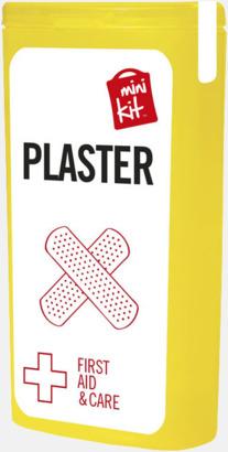 Gul Kit med 10 plåster i förpackning med reklamtryck