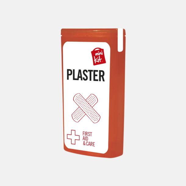 Röd Kit med 10 plåster i förpackning med reklamtryck