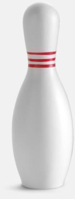 Vit / Röd Kägelformade stressbollar med reklamtryck