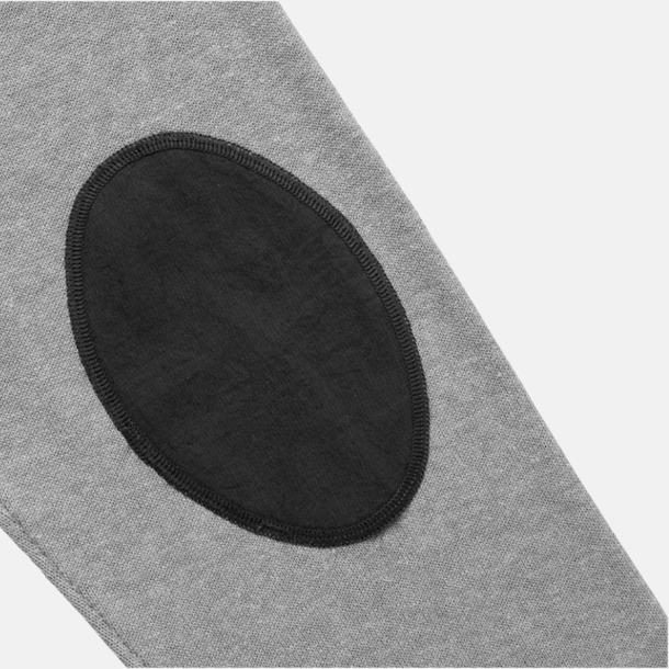 Patch V-ringad lappad pullover med reklamtryck