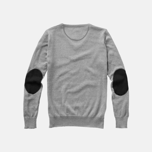 Baksida (patch) V-ringad lappad pullover med reklamtryck