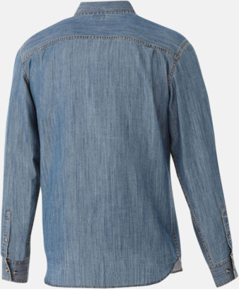 Denim skjorta långärmad med eget tryck