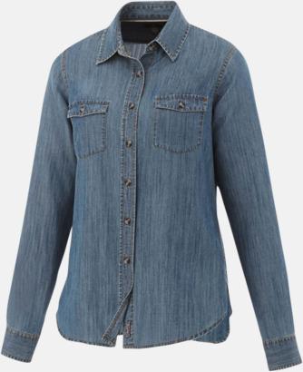 Denim (Dam) Denim skjorta långärmad med eget tryck
