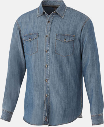 Denim (Herr) Denim skjorta långärmad med eget tryck