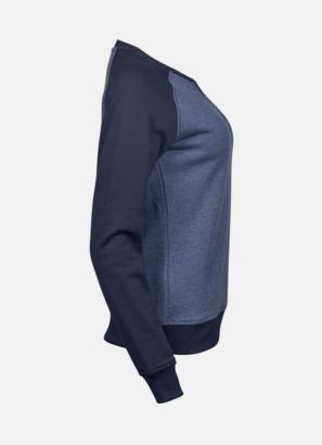 Tvåfärgade sweatshirts med reklamtryck