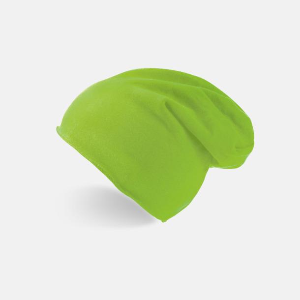 Green Fluo Varma beanie-mössor med tryck eller brodyr