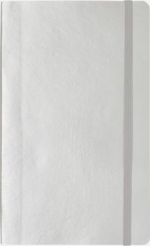 Silver Linjerad A5 notebook i konstläder