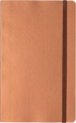 Koppar Linjerad A5 notebook i konstläder
