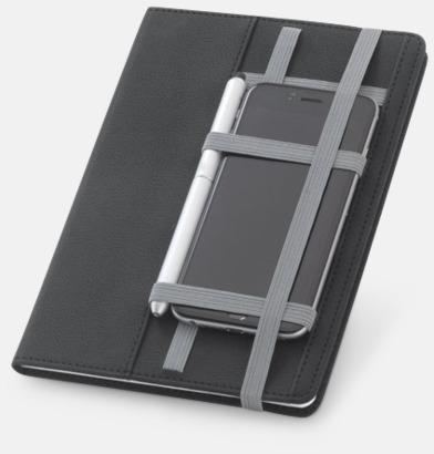 Anteckningsböcker med plats för smartphone - med reklamtryck