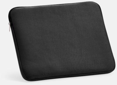 "Svart 14""-laptopfodral i soft shell med reklamtryck"