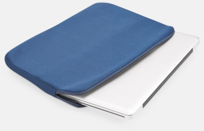 """Blå 14""""-laptopfodral i soft shell med reklamtryck"""