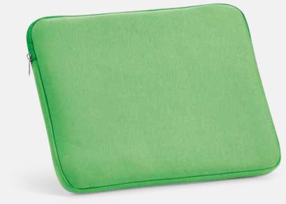 """Grön 14""""-laptopfodral i soft shell med reklamtryck"""