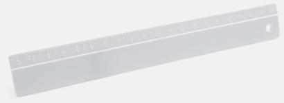 Transparent Linjaler i olika längder med reklamtryck