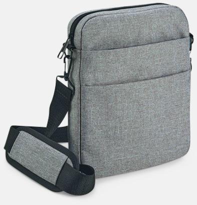 Mörkgrå Melange tablet väska