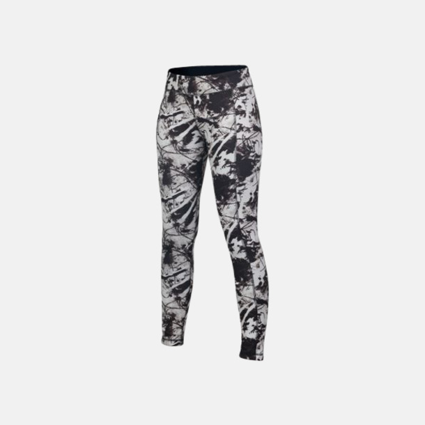 Svart/Print (dam) Tvåsidiga leggings med reklamtryck