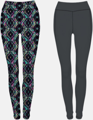 Charcoal (Grey)/Bright Aztec (dam) Tvåsidiga leggings med reklamtryck