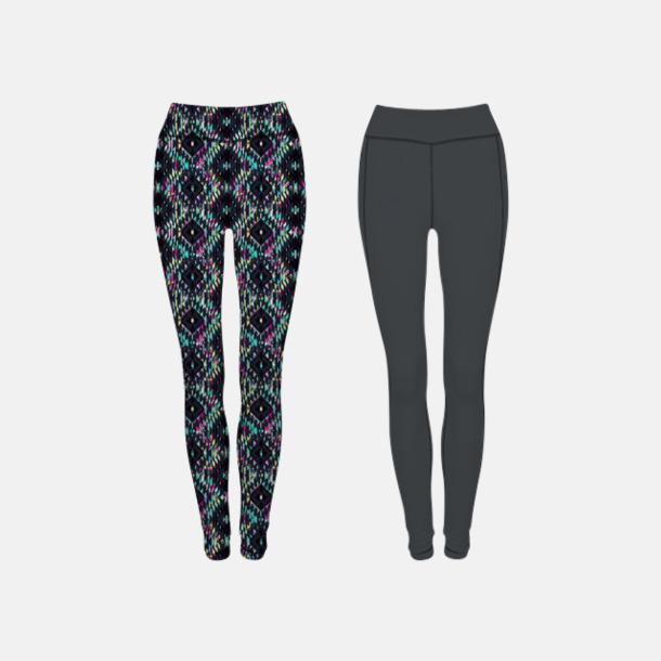 Charcoal (Grey)/Bright Aztec (dam, båda sidor) Tvåsidiga leggings med reklamtryck