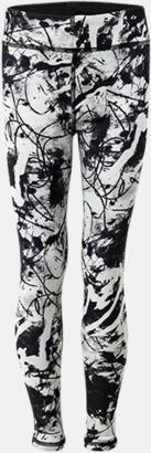Svart/Print (barn) Tvåsidiga leggings med reklamtryck